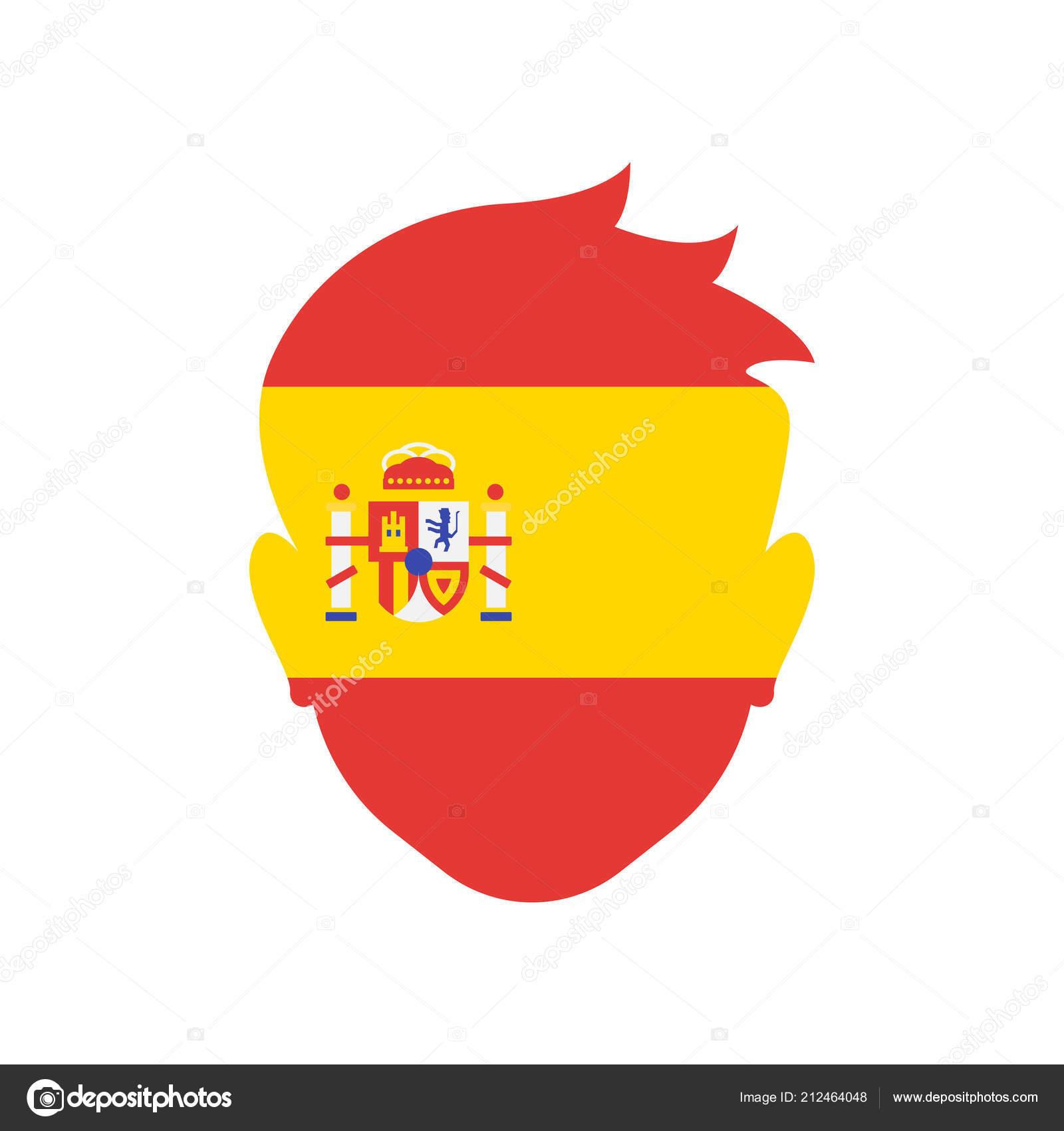 f203dd78faf8f Vector icono de España aislada sobre fondo blanco para su web y diseño de  aplicaciones móviles