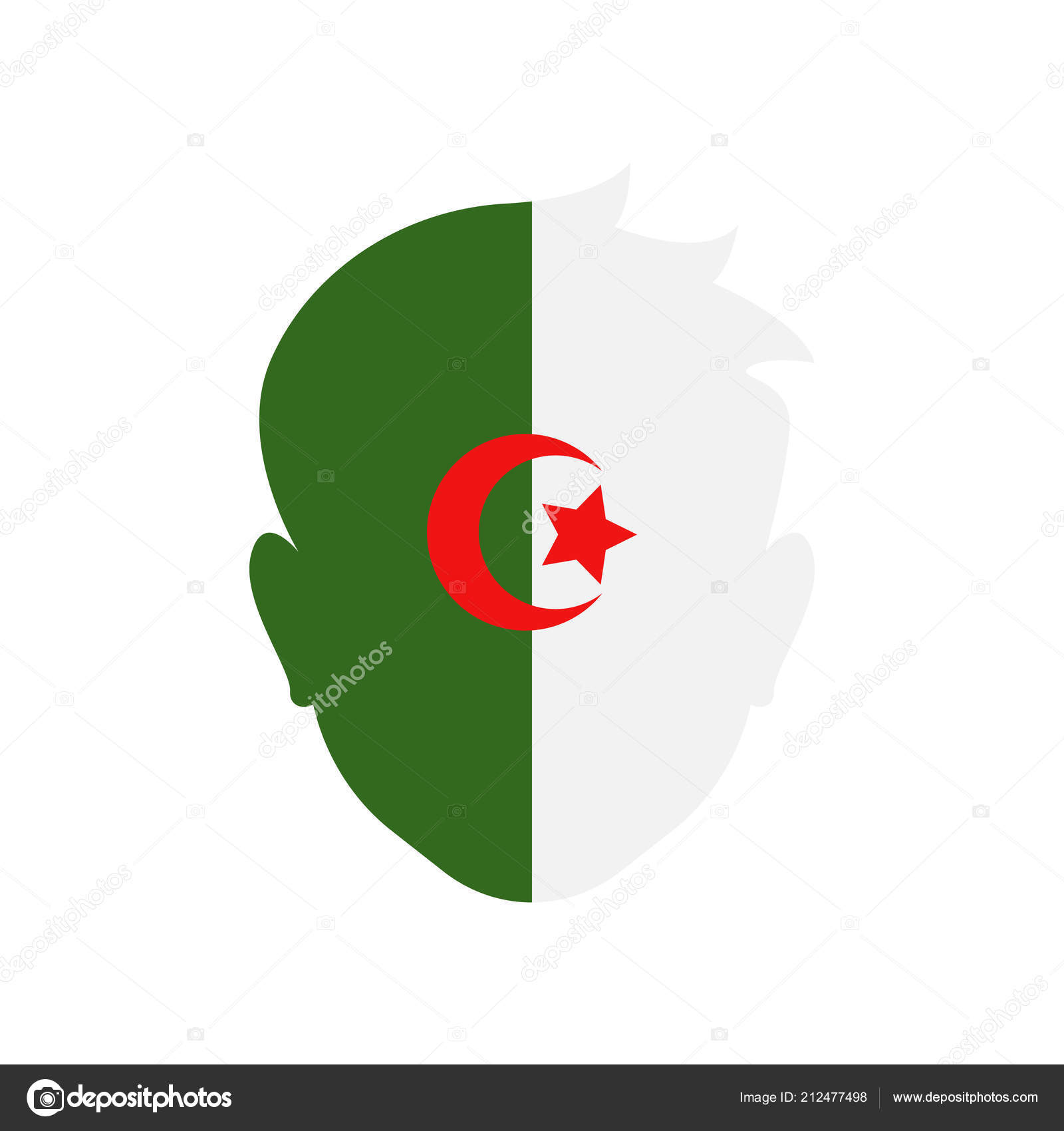 Algeria icon vector sign and symbol isolated on white