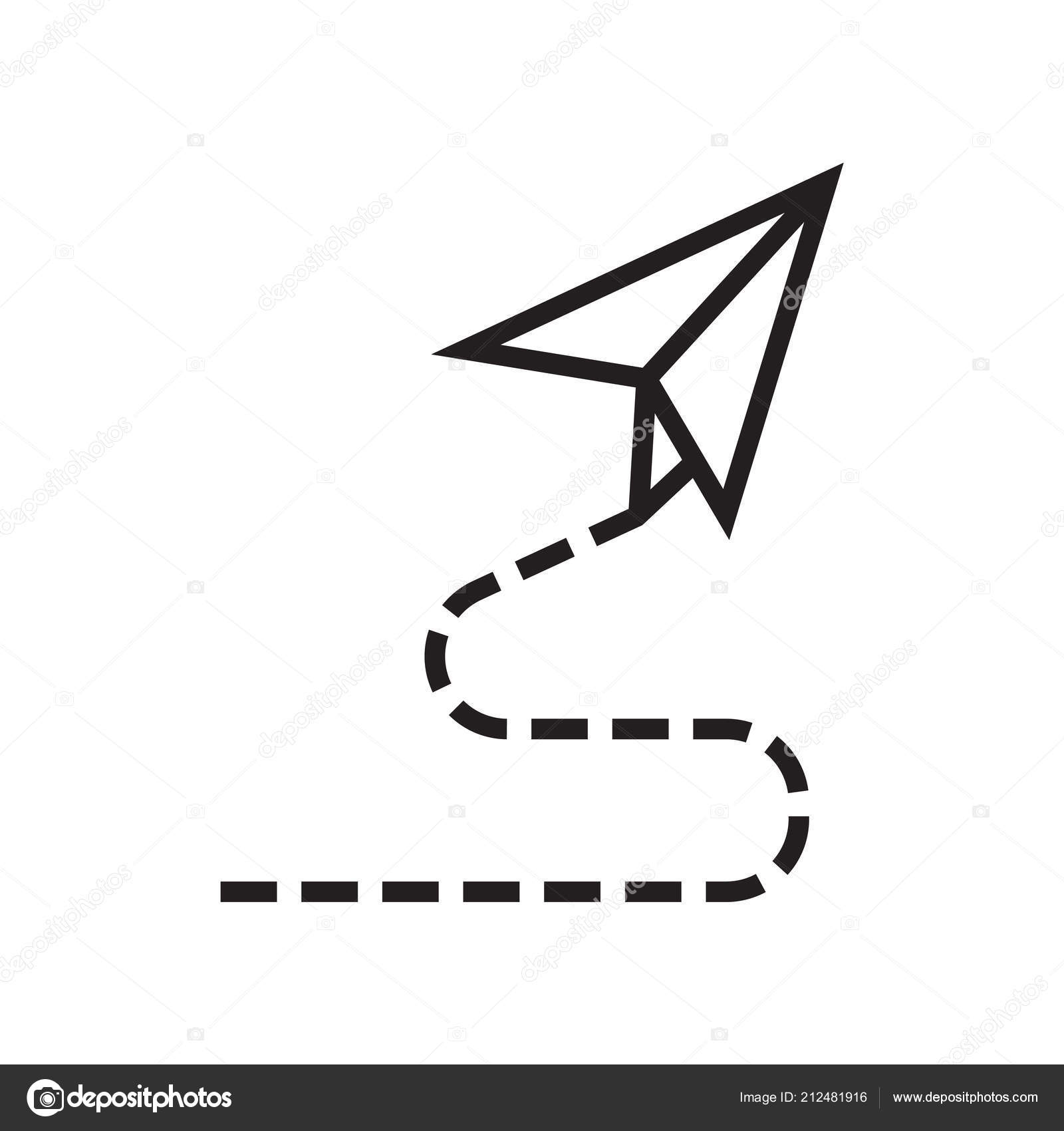 Paper Plane Icon Vector Sign And Symbol Isolated On White Background