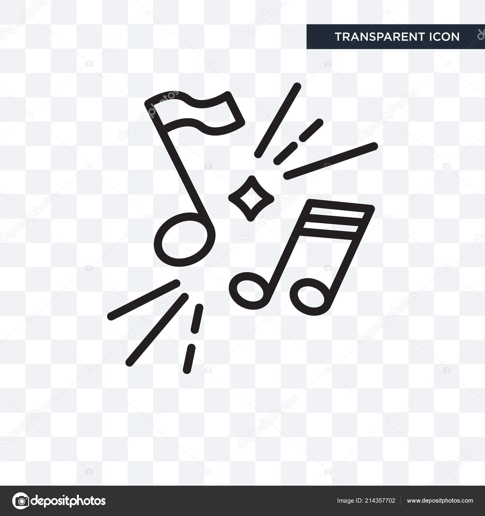 Music vector icon isolated on transparent background, Music