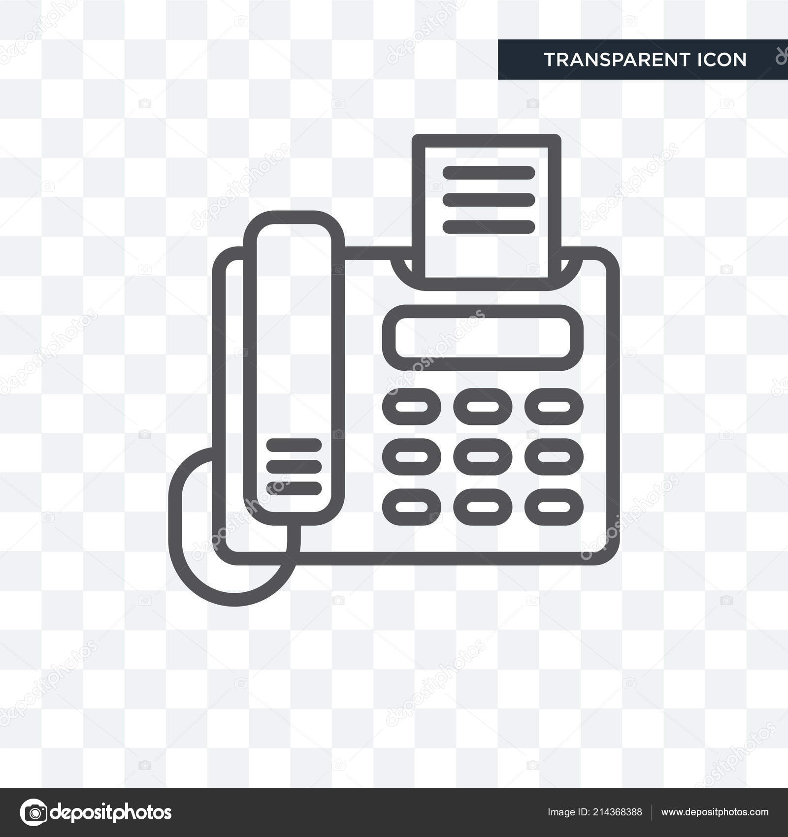 vector telephone and fax telephone with fax vector icon isolated on transparent backgroun stock vector c vectorgalaxy 214368388 https depositphotos com 214368388 stock illustration telephone with fax vector icon html