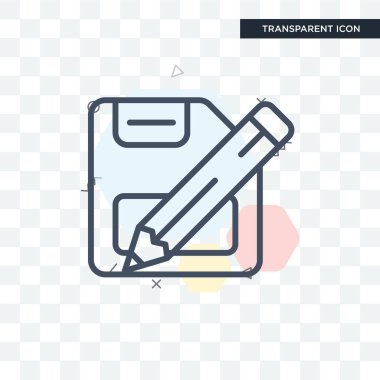 Save vector icon isolated on transparent background, Save logo d