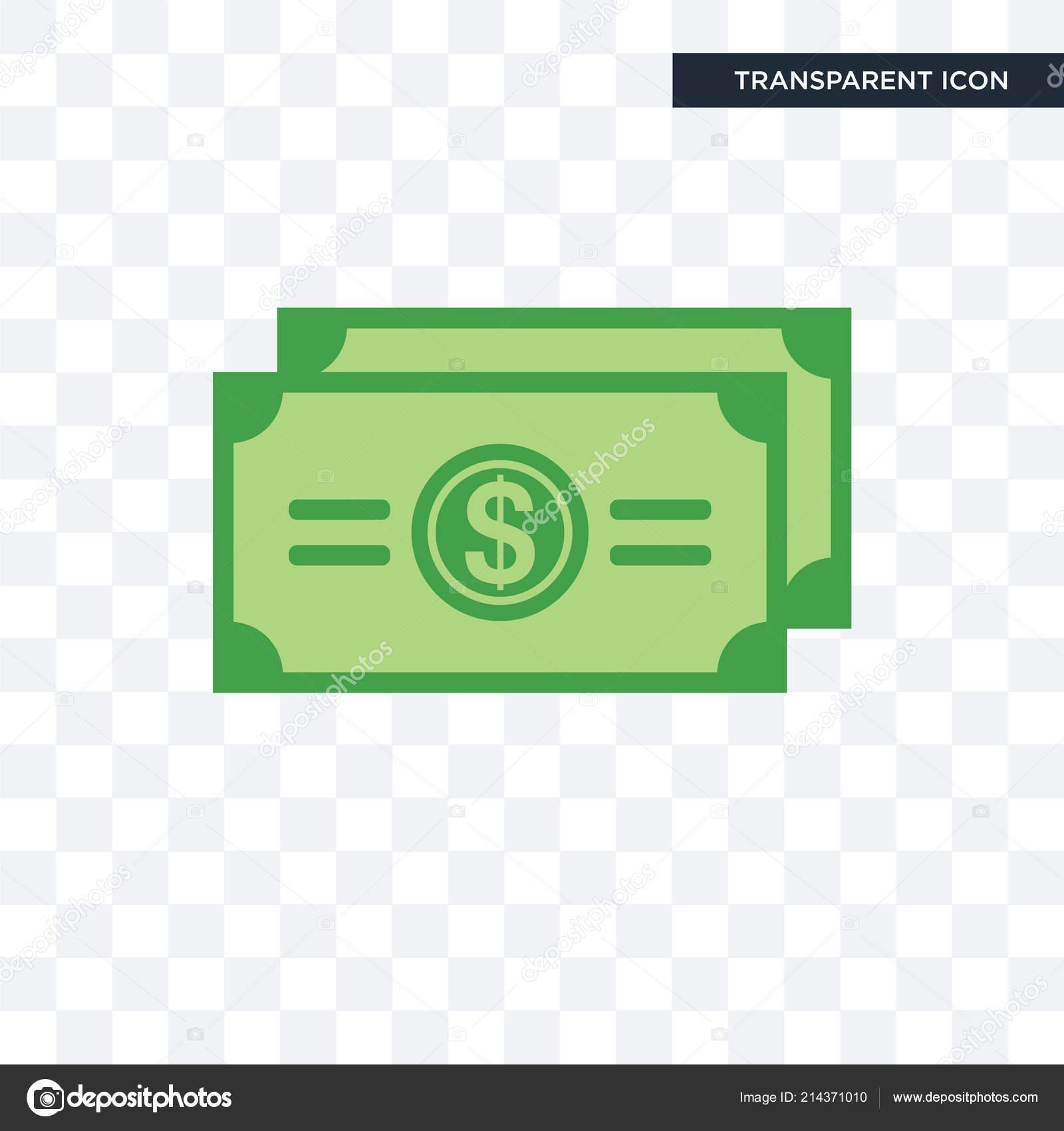 Icono De Vector De Bill De Dólar Aislado Sobre Fondo Transparente