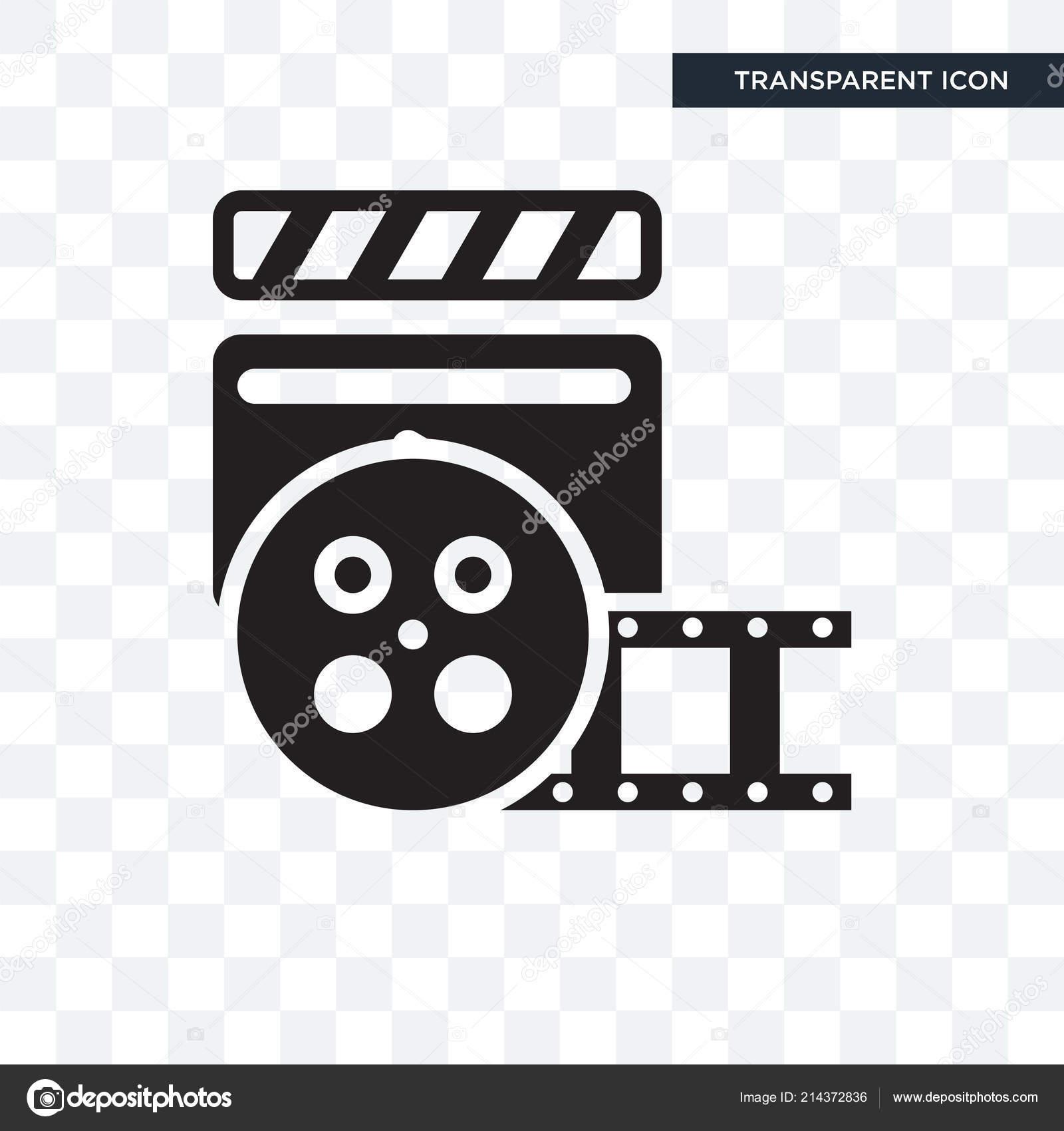 Cinema Vector Icon Isolated On Transparent Background Cinema Lo