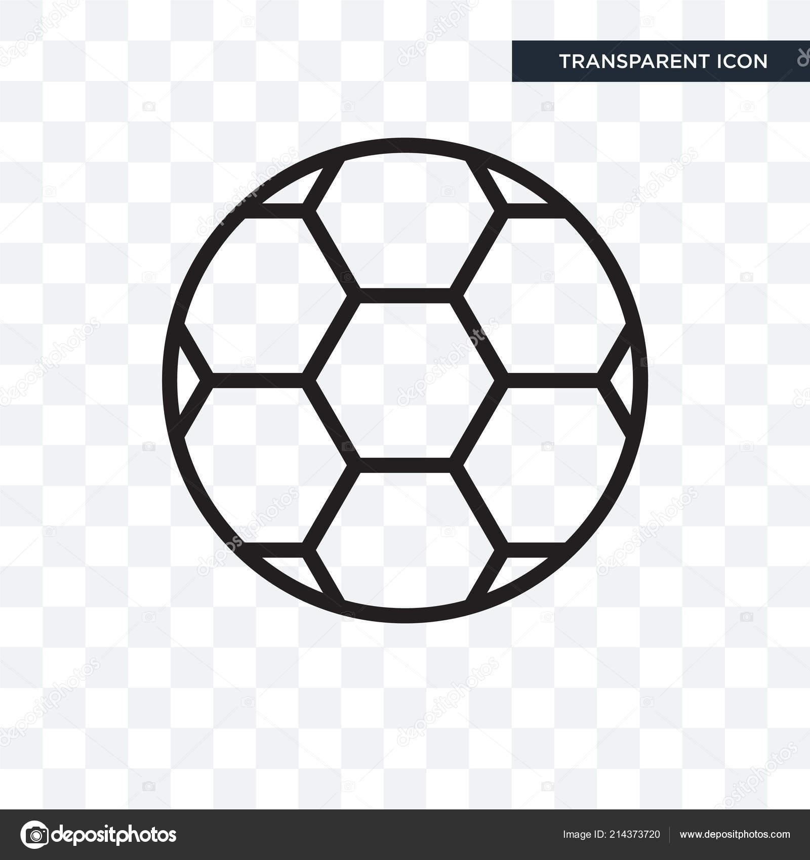 Fussball Vektor Icon Isoliert Auf Transparenten Hintergrund