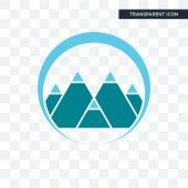 mont vector icon isolated on transparent background, mont logo d