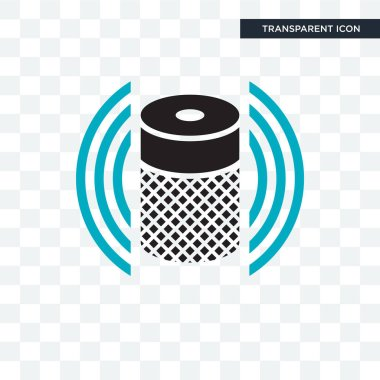 Smart Speaker vector icon isolated on transparent background, Smart Speaker logo concept clip art vector