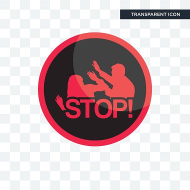 domestic violence vector icon isolated on transparent background