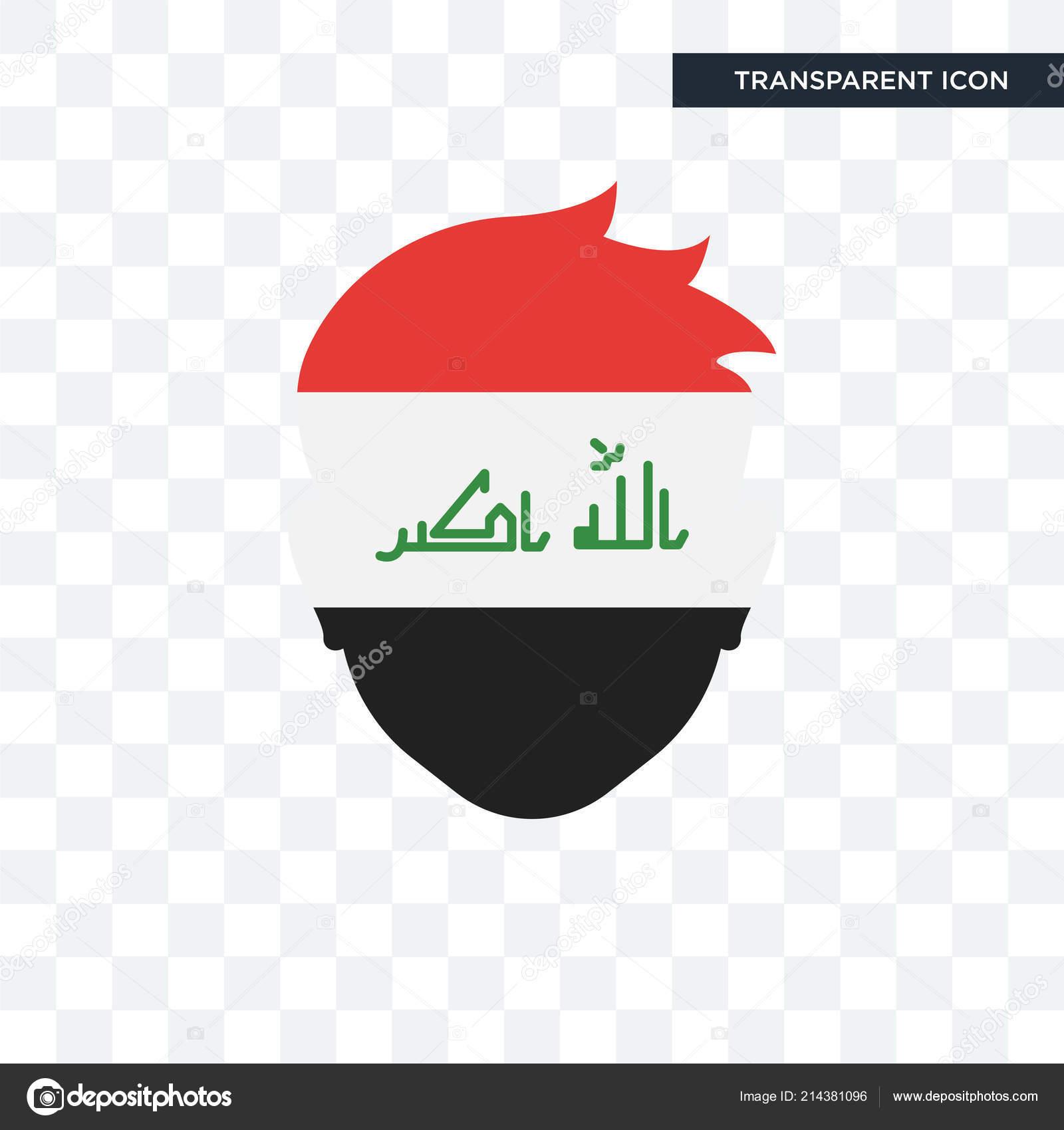 şeffaf Arka Plan Irak Logosu D Izole Irak Vektör Simgesi Stok