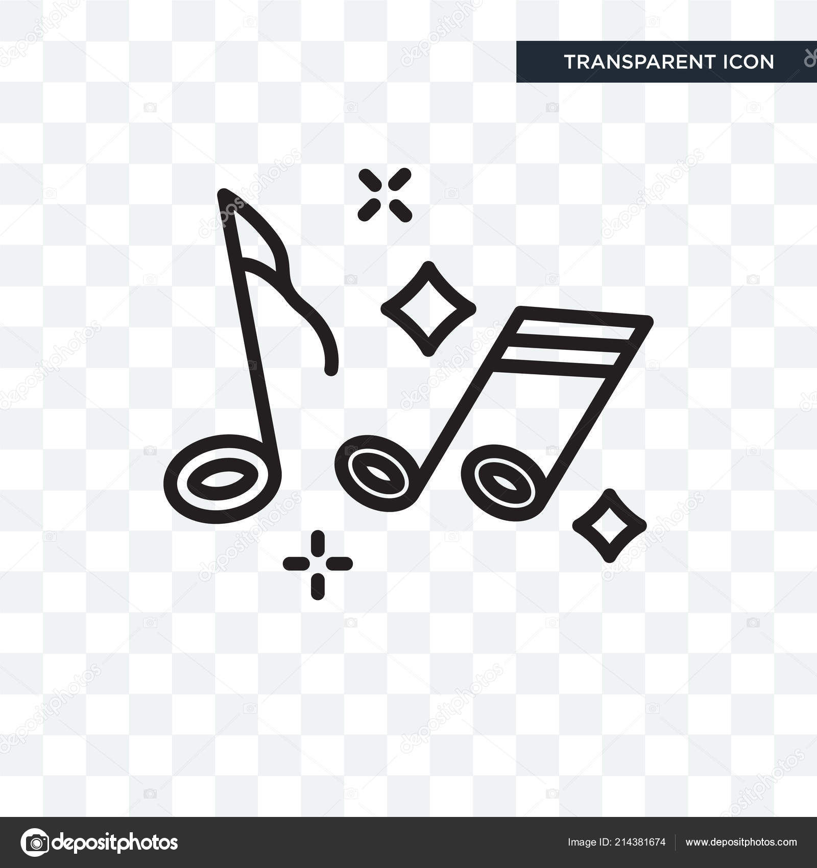 Music Note Vector Icon Isolated On Transparent Background Music