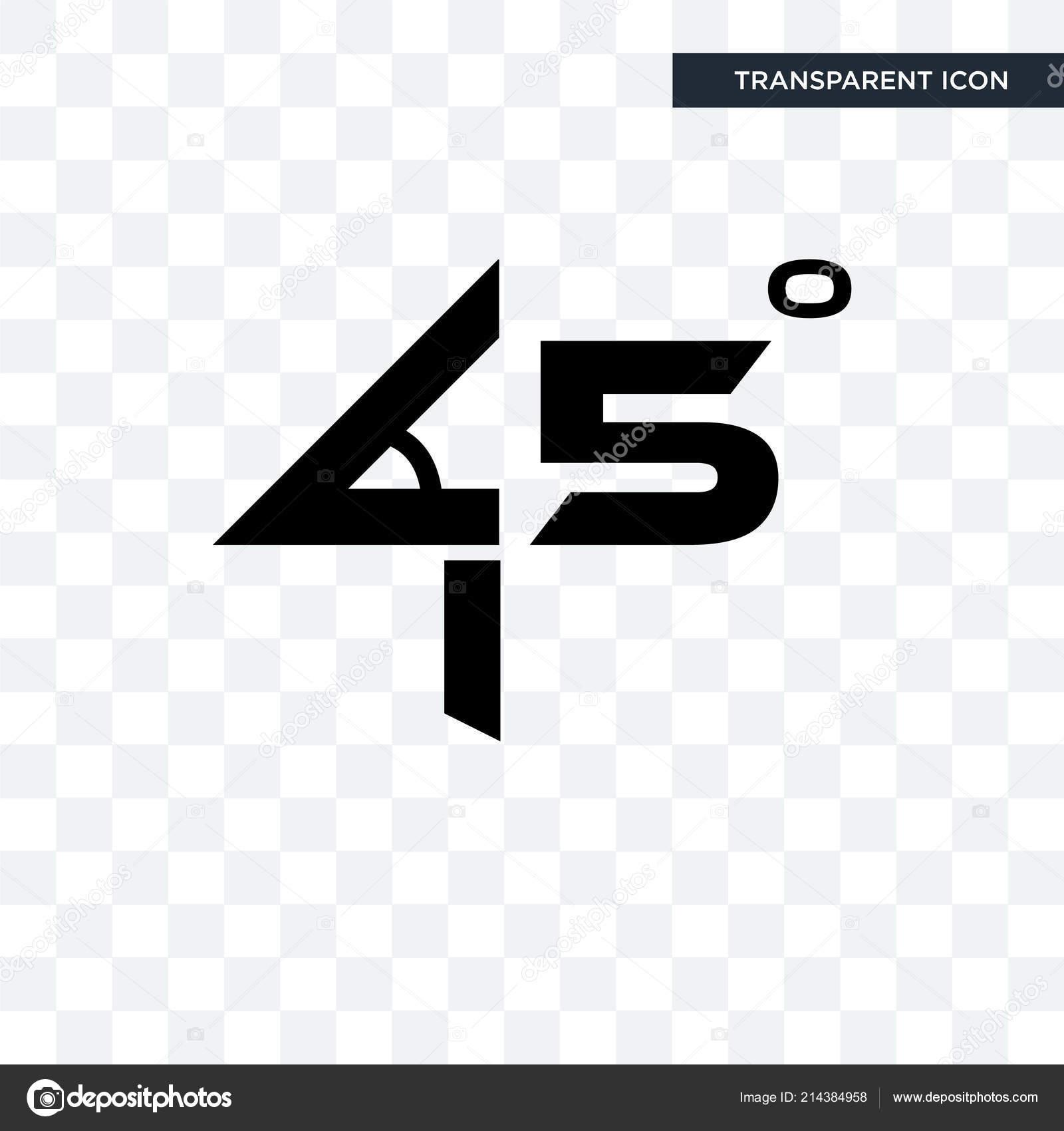 45-grad winkel vektor icon auf transparenten hintergrund isoliert