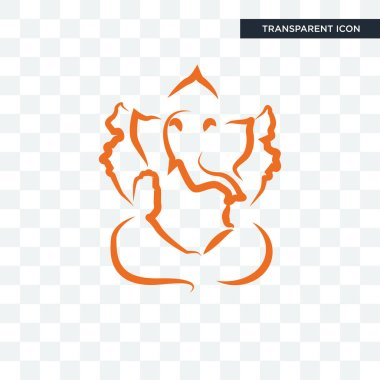ganesh ji vector icon isolated on transparent background, ganesh