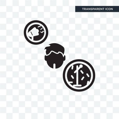 Showman vector icon isolated on transparent background, Showman