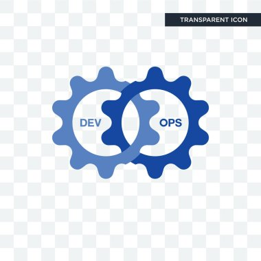 devops vector icon isolated on transparent background, devops lo