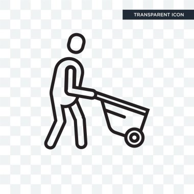 Trolley vector icon isolated on transparent background, Trolley