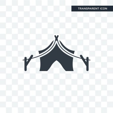 Tent vector icon isolated on transparent background, Tent logo d