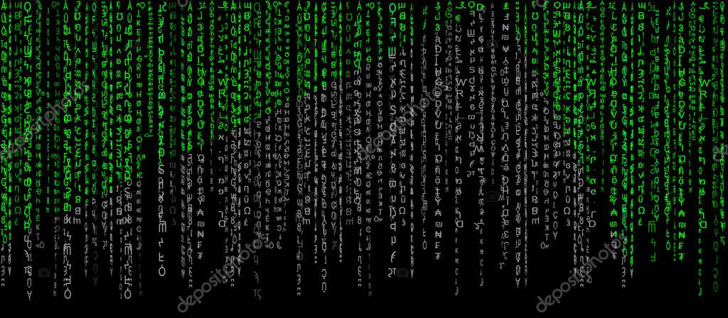 matrix green on a black background with a gray tint computer virus and hacker screen wallpaper premium vector in adobe illustrator ai ai format encapsulated postscript eps eps format gray tint computer virus and hacker
