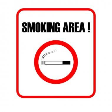 Smoking area, Smoking allowed sign on white background