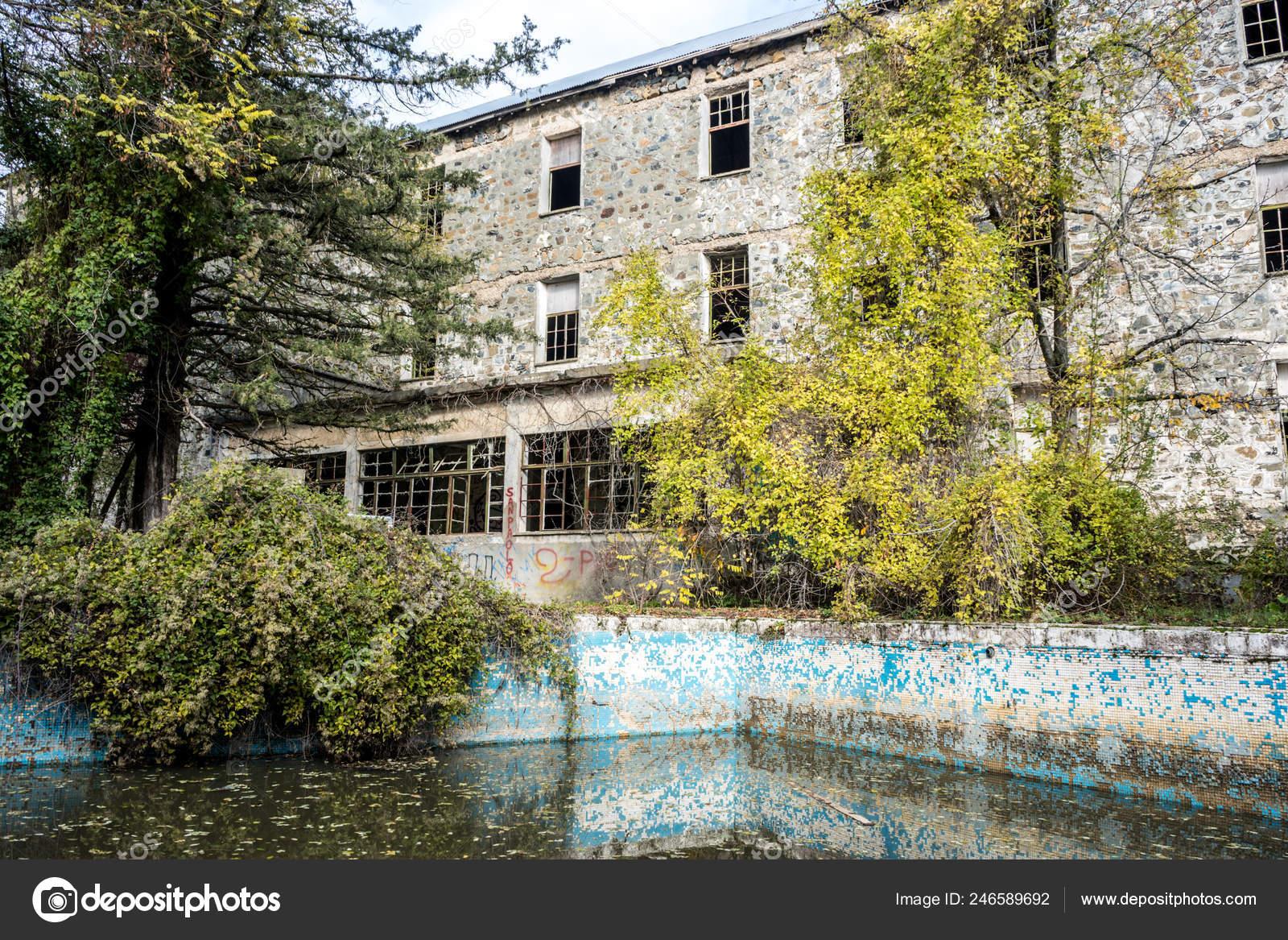 Swimming Pool Area Berengaria Abandoned Hotel Mountain Region Trodos Cyprus Stock Photo C Aleksandrbazinlt Gmail Com 246589692