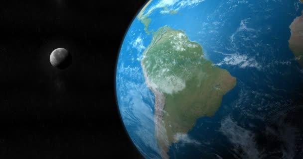 Měsíce kolem země planety v kosmickém prostoru