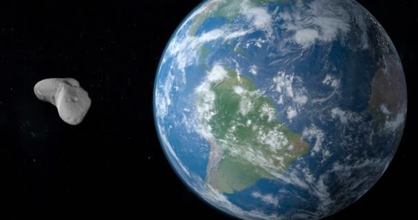 Eros. podlouhlý planetka Amor skupiny, obíhající kolem planety země