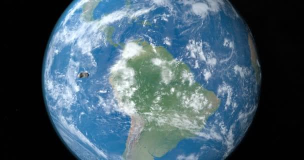 Asteroid Eros obíhající kolem planety země
