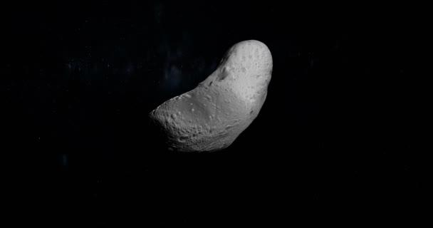 Gyrating asteroidu Eros. Smyčka