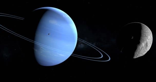 Műholdas, Larissa, is ismert, mint a Neptunusz Vii kering körül Neptunusz bolygó a világűrben