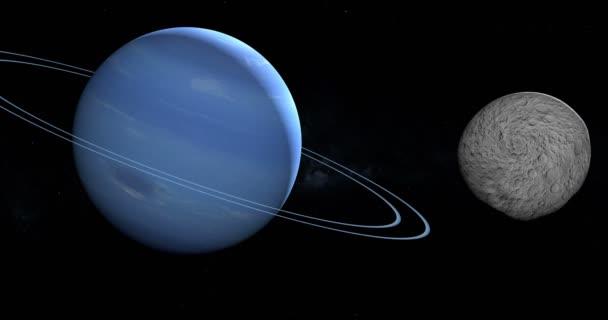 Larissa, belső Hold-Neptunusz bolygó néven Neptune Vii, ezen a környéken: Neptunusz bolygó a világűrben keringő