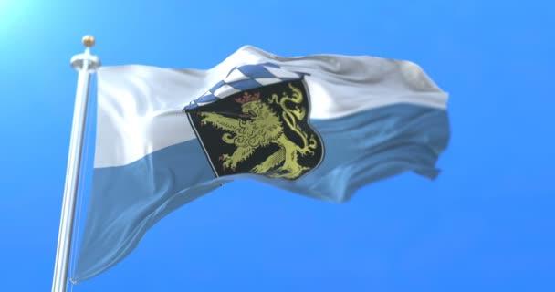 Flagge der Region Oberbayern, in Deutschland. Schleife