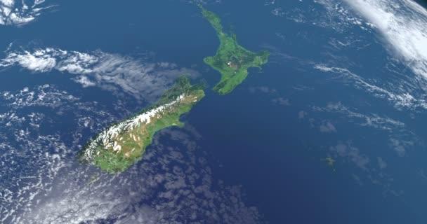 Új-Zéland-sziget föld bolygó, légi felvétel az űrből