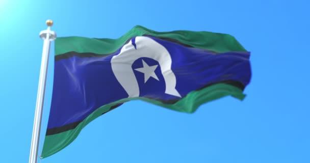 Torres-szoros Islander zászló, Ausztrália. Hurok