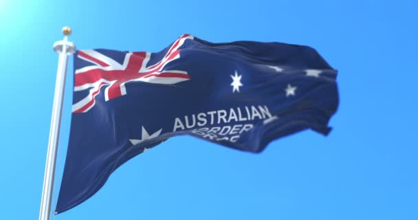 Australian Border Force Flag, Australia. Loop
