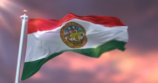 Günbatımında San Diego bayrağı, ABD 'de Kaliforniya eyaleti - döngü