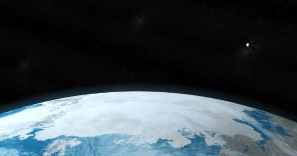 Sputnik-Satellit kreist um den Planeten Erde