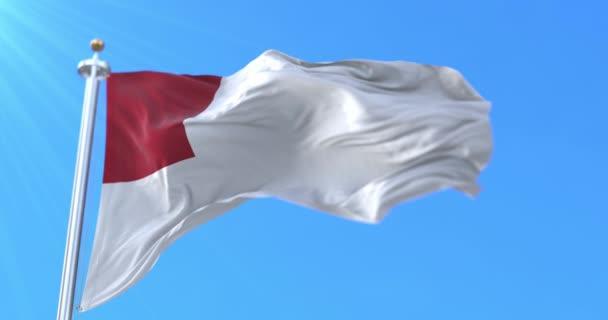 Zászló a spanyol város Bilbao Baszkföld, Spanyolország - Loop
