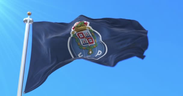 Térkép Football Club Porto in Portugal waving, loop
