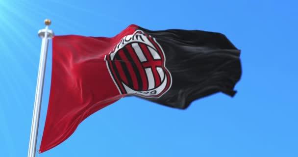 Zászló Associazione Calcio Milan Football Club of Italy integetett, hurok