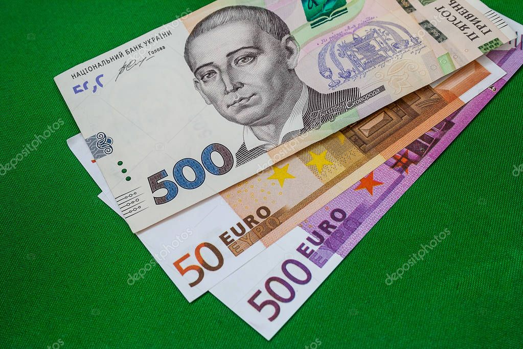 Money banknotes of different countries on the table