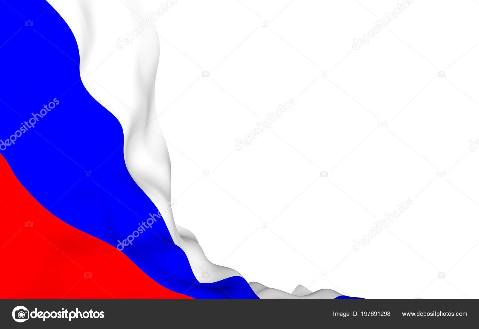 Waving Flag Of The Russian Federation The National State Symbol Of