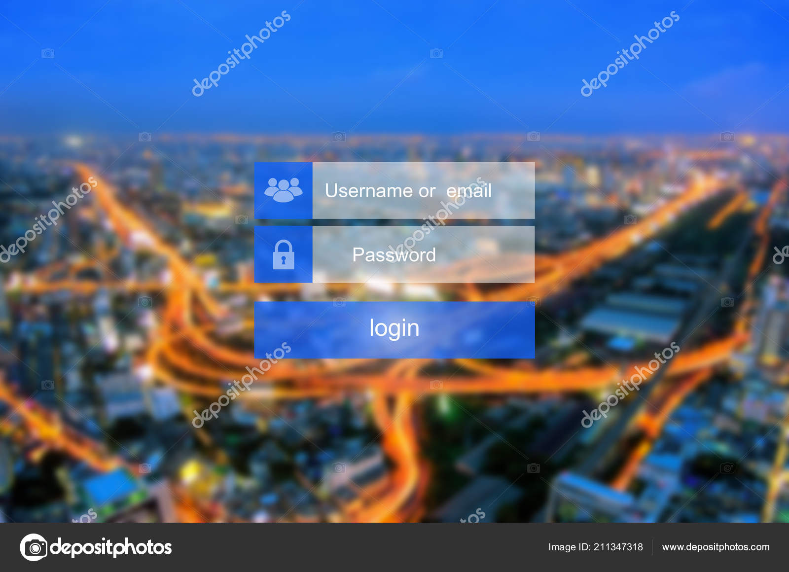 Login Interface Touch Screen Touching Login Box Username Password