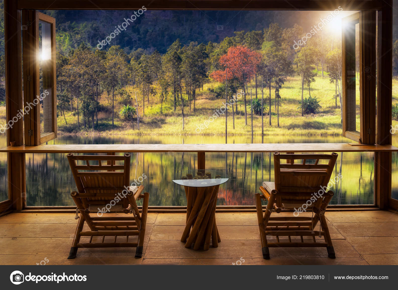 Prime Beautiful Landscape Cafe Style Minimal Wood Tables Chairs Short Links Chair Design For Home Short Linksinfo