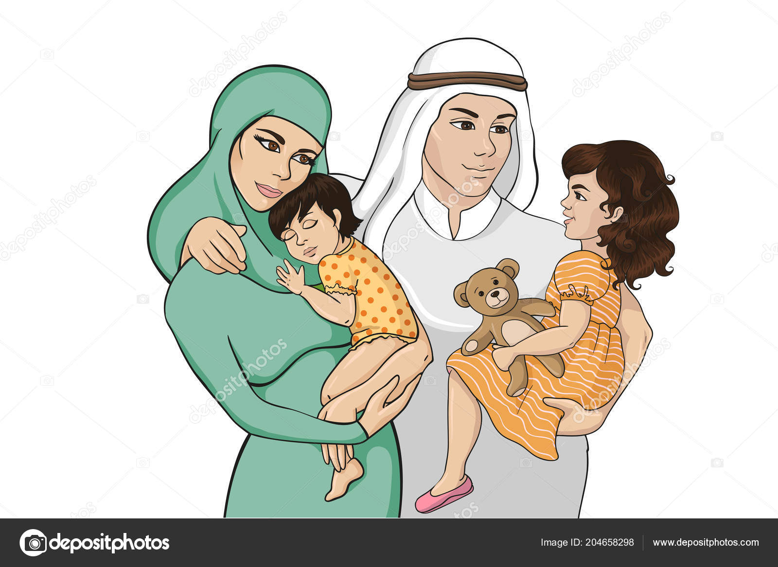 Cartoon Muslim Mother Stock Vectors Royalty Free Cartoon Muslim Mother Illustrations Page 2 Depositphotos