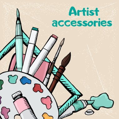 Highly detailed artists icons set 5