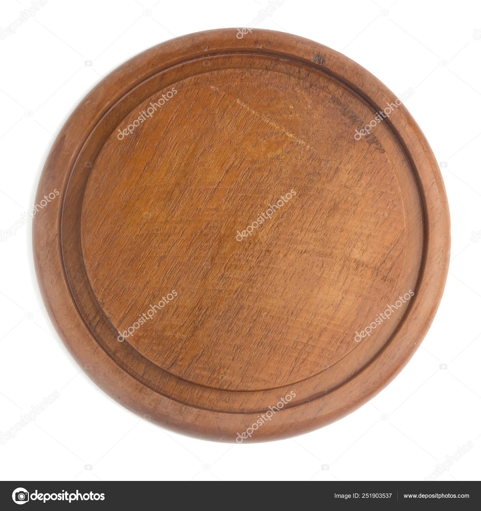 Wooden Chopping Board Shape Circular Isolated On White Backgrou Stock Photo C Chercvc999 Gmail Com 251903537