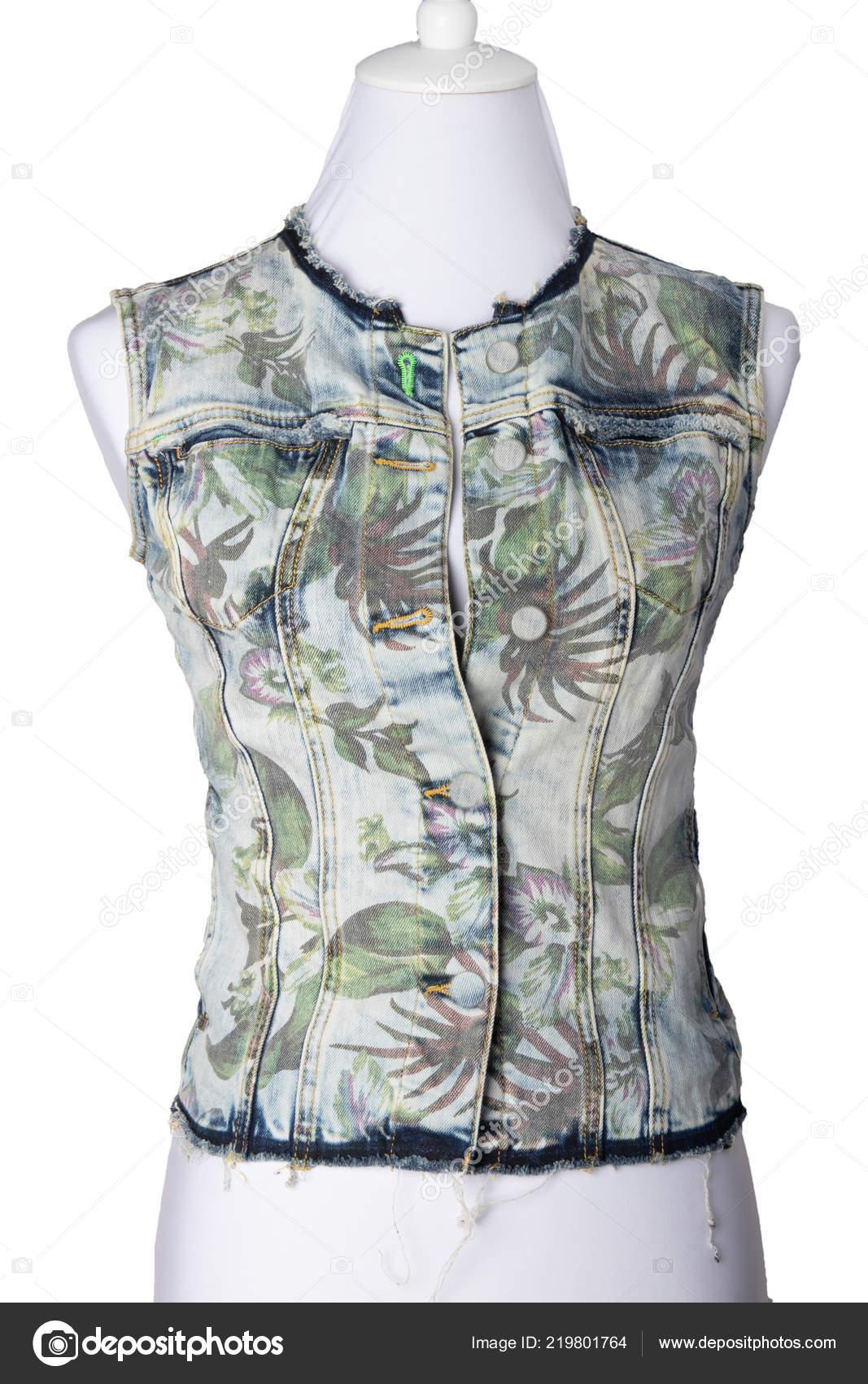 online retailer e0acb 9ffbf Vestiti Delle Donne Gilet Senza Maniche Blu Jeans Giacca ...