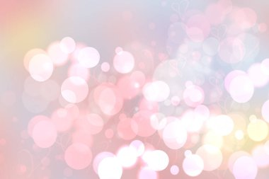 Festive pink bright abstract Bokeh, colorful gradient defocused and pastel colored. Beautiful texture.