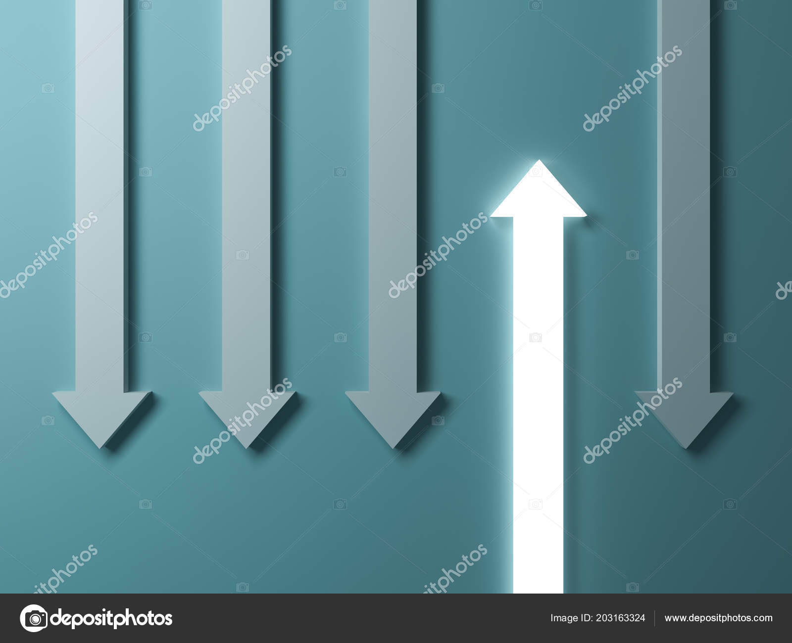 Stand Out Crowd Different Concept One Glowing Light Arrow Other Stock Photo C 3dconceptsman 203163324 Download for free in png, svg, pdf formats 👆. depositphotos
