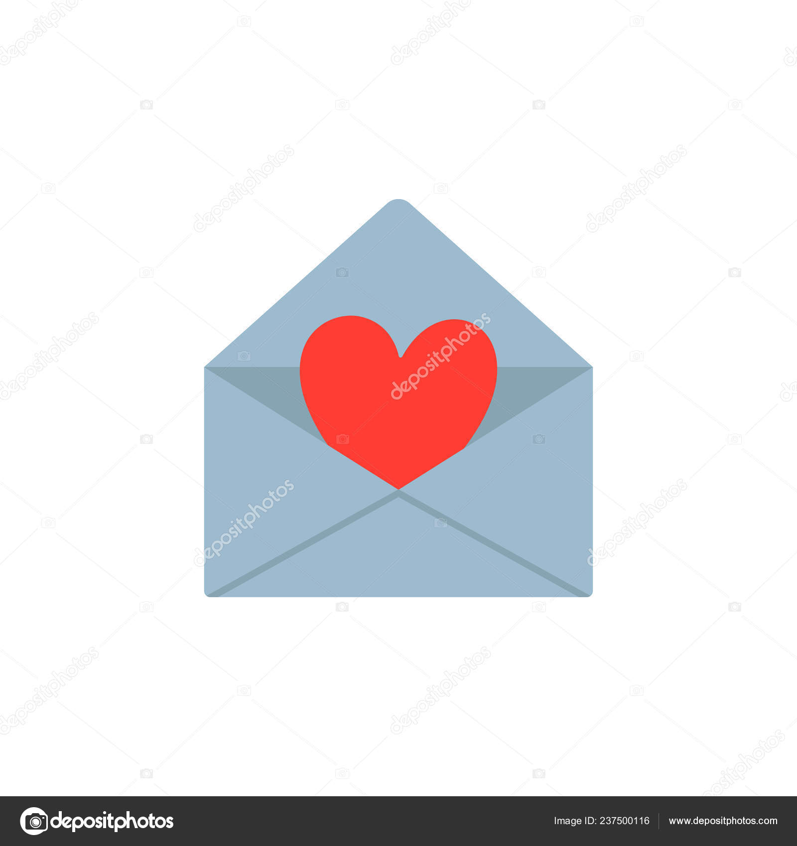 Valentine Day Greeting Card Invitation Love Letter Envelope