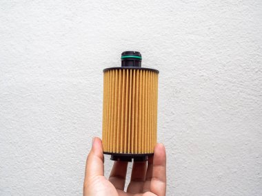 Car fuel filter isolated on white background.